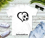Soccer heart shirt in white