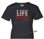Life Begins when Baseball Starts Shirt in Bling