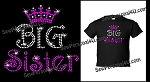 Big Sister Tshirt in Bling