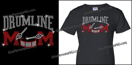 68fb69cb Drum line Mom shirt in Bling - Drumline Mom Shirt
