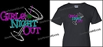 Bling Girls Night Out Shirt