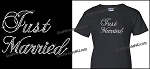 Just Married bling shirt or hoodie