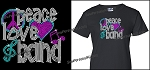 Peace, Love and Band Shirt