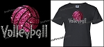Volleyball Glitter Bling Shirt