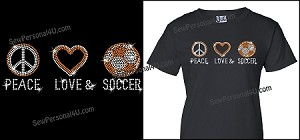 Peace, Love, Soccer Shirt