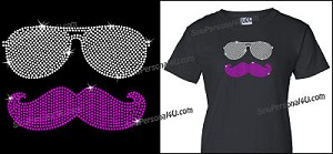 Cool Mustache bling Shirt