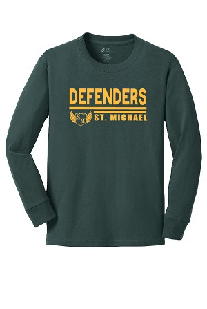 St. Michael Long Sleeve Tshirt with Defender Logo