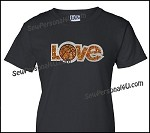Love Baskeball Glitter Shirt