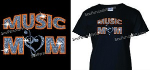 Glitter Music Mom Shirt