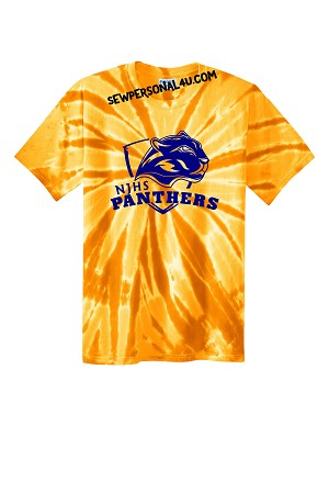 NJHS Panthers Dye Tshirt in Gold