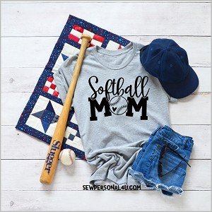 Softball Mom gray tshirt