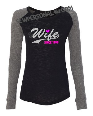 Wife Personalized Shirt with Wedding Year