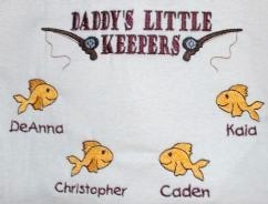 Embroidered Daddy's Little Keepers