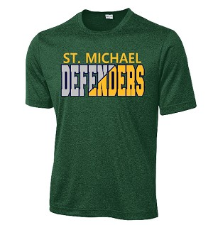St. Michael Performance Tshirt in green