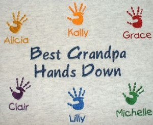 Embroidered Grandpa's Helpers Shirt