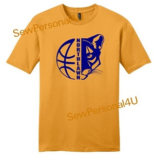 Northlawn Panthers Basketball Tshirt