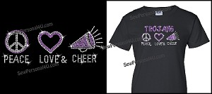 Peace Love and Cheer Shirt