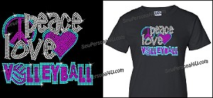 Peace, Love and Volleyball Shirt